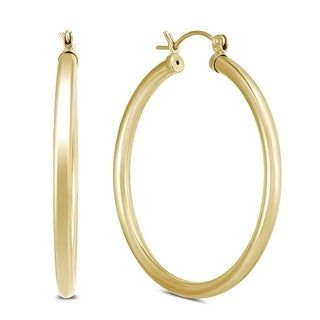 Link to 40mm 14K Yellow Gold Filled Hoop Earrings Similar Items in Earrings