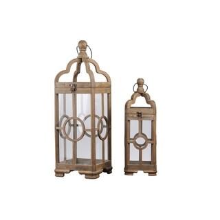 UTC54207 Wood Lantern Natural Finish Brown
