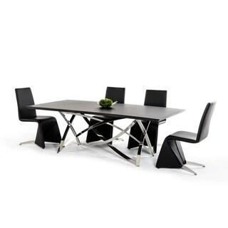 Modrest Neron Modern Wenge Dining Table - Black
