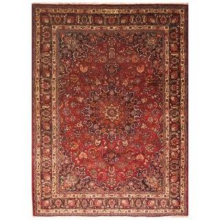 Handmade One-of-a-Kind Mashad Wool Rug (Iran) - 8'2 x 11'5