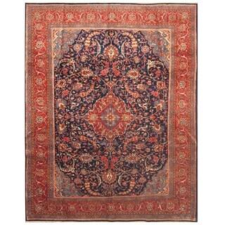 Handmade Herat Oriental Persian Hand-knotted Mahal Wool Rug (9'1 x 11'7)
