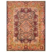Handmade Herat Oriental Persian Hand-Knotted Kashmar Wool Rug (9'6 x 12'4)