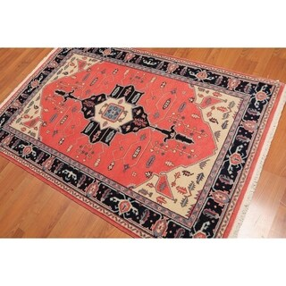 """Romanian Serapi Hand-Knotted Wool Persian Area Rug (4'x6'4"""") - 4' x 6'4"""""""