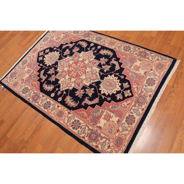Shop Beige Wool Hand Knotted Oriental Persian Area Rug 6: Shop Heriz Romanian Hand-Knotted Wool Persian Area Rug (4