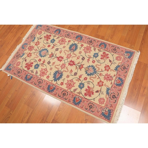 Hand Knotted Persian Kashan Wool Area Rug Ebth: Shop Kashan Romanian Hand-Knotted Wool Persian Area Rug (3