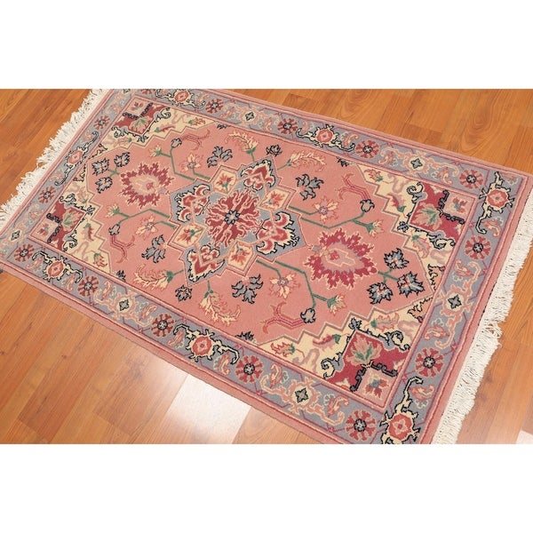 Hand Knotted Persian Tabriz Wool Area Rug Ebth: Shop Romanian Heriz Hand-Knotted Wool Persian Area Rug (3