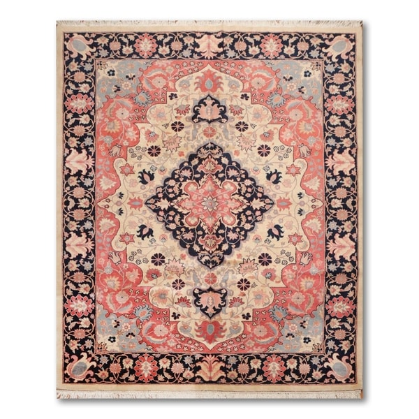 Shop Beige Wool Hand Knotted Oriental Persian Area Rug 6: Shop Master Quality Tabriz Hand-Knotted Wool Persian Area