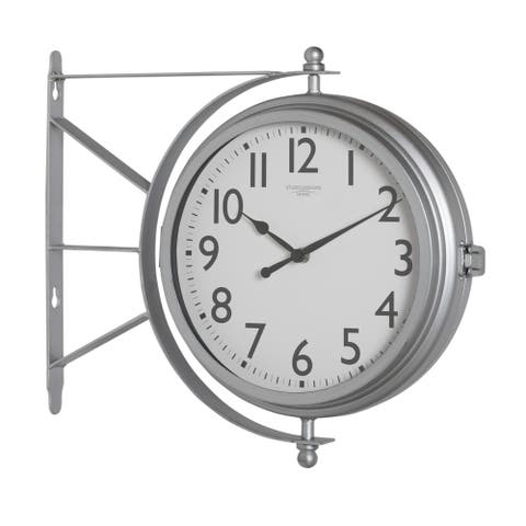 Studio Designs Home Metro Station Dual Faced Wall Clock