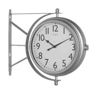 Studio Designs Home Metro Station Dual Faced Wall Clock