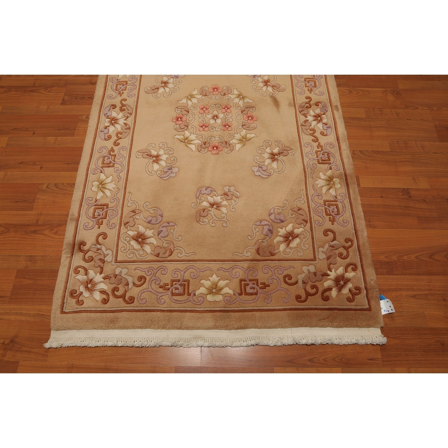 Thick Pile Aubusson Hand Knotted Wool Oriental Area Rug 4 X6 Tan Brown 4 X 6