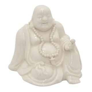 """Three Hands 4.25 """" White - CERAMIC BUDDHA"""
