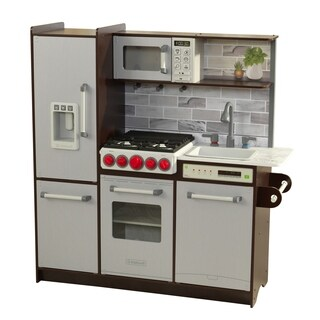 Uptown Elite Espresso Play Kitchen with EZ Kraft Assembly