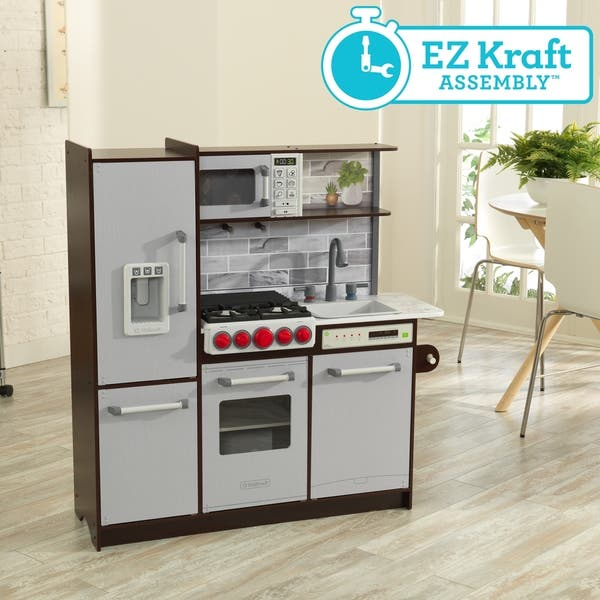 Shop Uptown Elite Espresso Play Kitchen with EZ Kraft ...