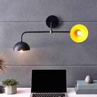 Harper Blvd Jane Midcentury Modern 2-Light Indoor Black Wall Sconce