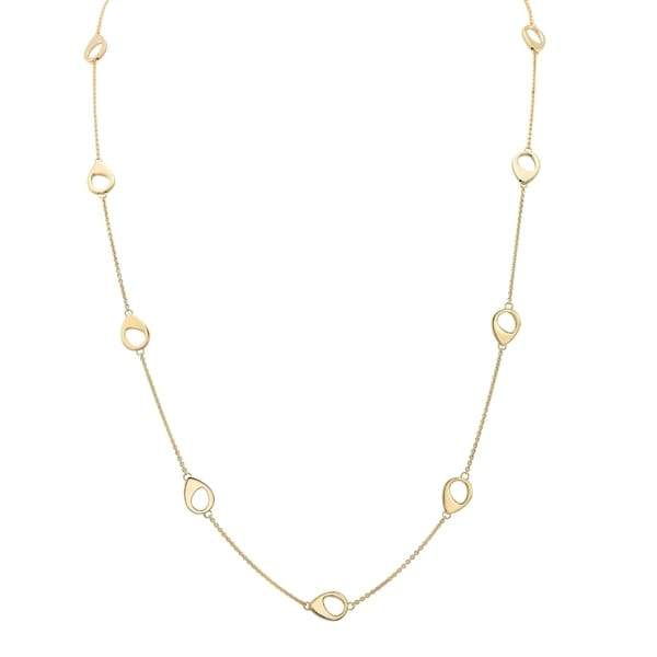303dab5c60d9 Shop 14k Yellow Gold Open Teardrop Station Necklace