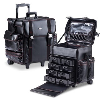 MUA LIMITED Cosmetic Makeup Artist Case with Storage Drawers On Wheels