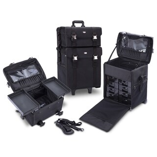 Link to KIOTA 2-in-1 Makeup Artist Case on Wheels with Removable Drawers Similar Items in Makeup Brushes & Cases