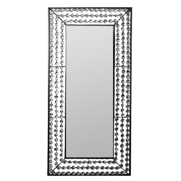 Essential Decor & Beyond Silver Metal Rectangular Wall Accent Mirror