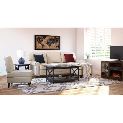 """Serta Copenhagen 86"""" Reversible Small Space Sectional with Storage"""