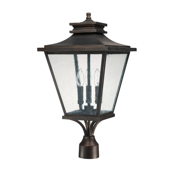 Gentry 3 Light Old Bronze Outdoor Post Lantern On Free Shipping Today 23443705