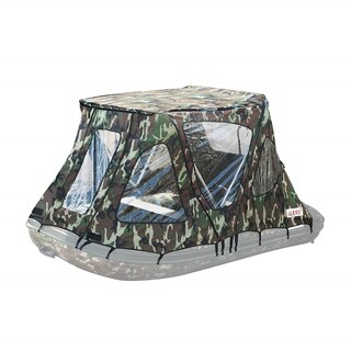 ALEKO Waterproof Winter Camouflage Tent for 10.5 ft Inflatable Boat