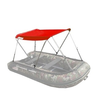 ALEKO Summer Canopy Red Tent for 8.4 ft Inflatable Boats