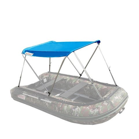 ALEKO Summer Canopy Blue Tent for 12.5 ft Inflatable Boats