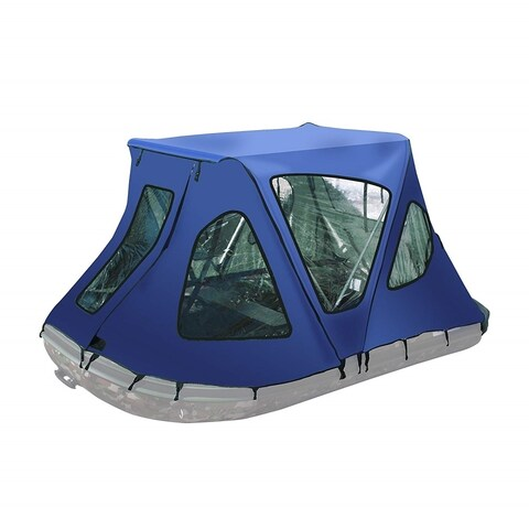 ALEKO Waterproof Winter Blue Tent for 12.5 ft Inflatable Boat