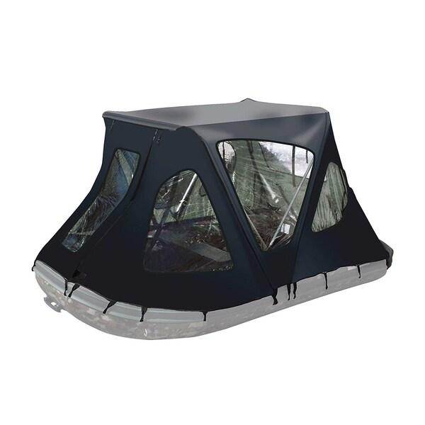 ALEKO Waterproof Winter Black Tent for 8.4 ft Inflatable Boat