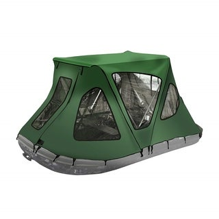 ALEKO Waterproof Winter Green Tent for 10.5 ft Inflatable Boat