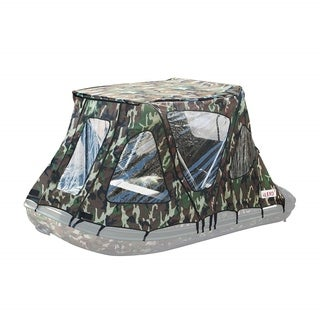 ALEKO Waterproof Winter Camouflage Tent for 12.5 ft Inflatable Boat