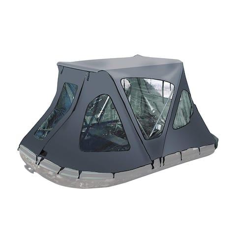 ALEKO Waterproof Winter Gray Tent for 13.8 ft Inflatable Boat