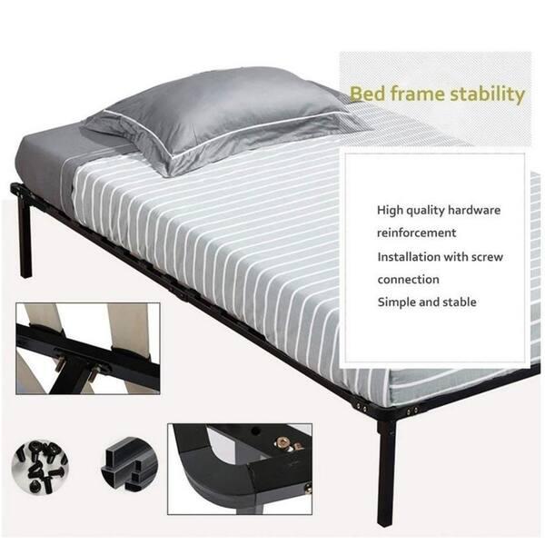 Shop Porch & Den Troon Metal and Wood Platform Bed Frame ...