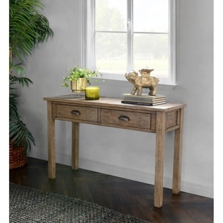 The Gray Barn Fairview Driftwood Reclaimed Pine Console Table