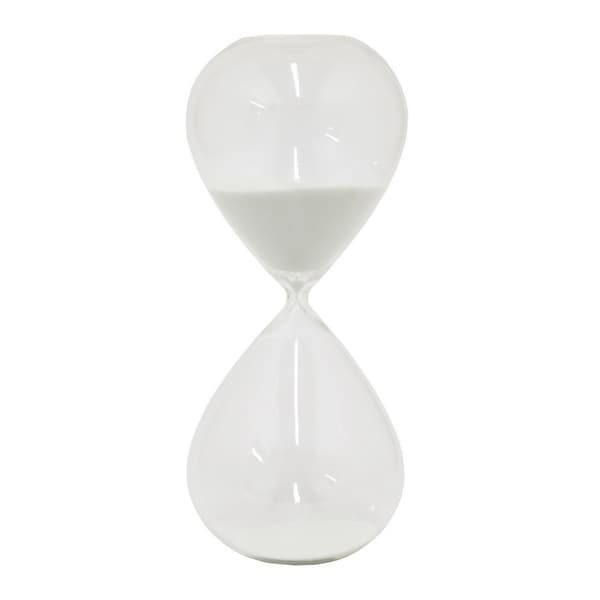 "Three Hands 15 "" White - GLASS SAND TIMER 2 HOURS"