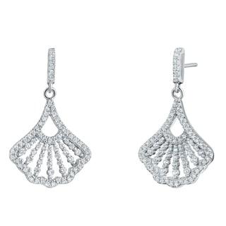 Sterling Silver Cubic Zirconia Mermaid Dangle Drop Earrings
