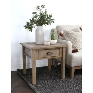 Shop Wilson Antique White Reclaimed Pine Square Side Table