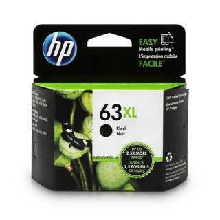 Original HP 63XL High Yield Black Ink Cartridge,F6U64AN