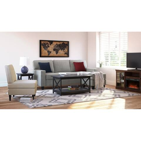 """Serta Palisades 86"""" Reversible Small Space Sectional with Storage"""