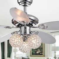 "Casimer Chrome 5-blade 3-light Crystal Bronze 42"" Ceiling Fan"