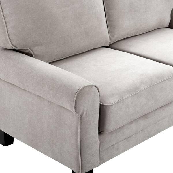 Surprising Shop Serta Copenhagen 61 Round Arm Fabric Loveseat With Inzonedesignstudio Interior Chair Design Inzonedesignstudiocom