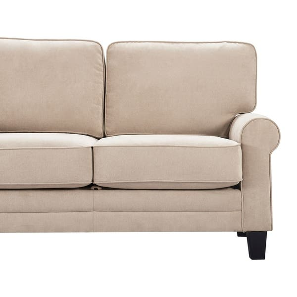 Astounding Shop Serta Copenhagen 61 Round Arm Fabric Loveseat With Gmtry Best Dining Table And Chair Ideas Images Gmtryco