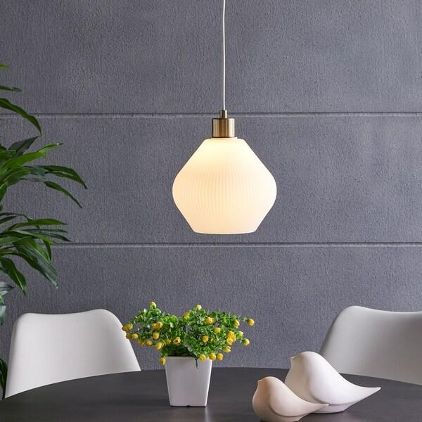 Harper Blvd Hosmer Pendant Lamp with White Glass Shade