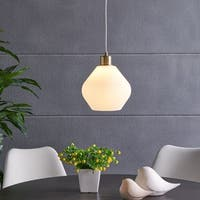 Harper Blvd Hosmer Pendant Lamp with White Glass Shade