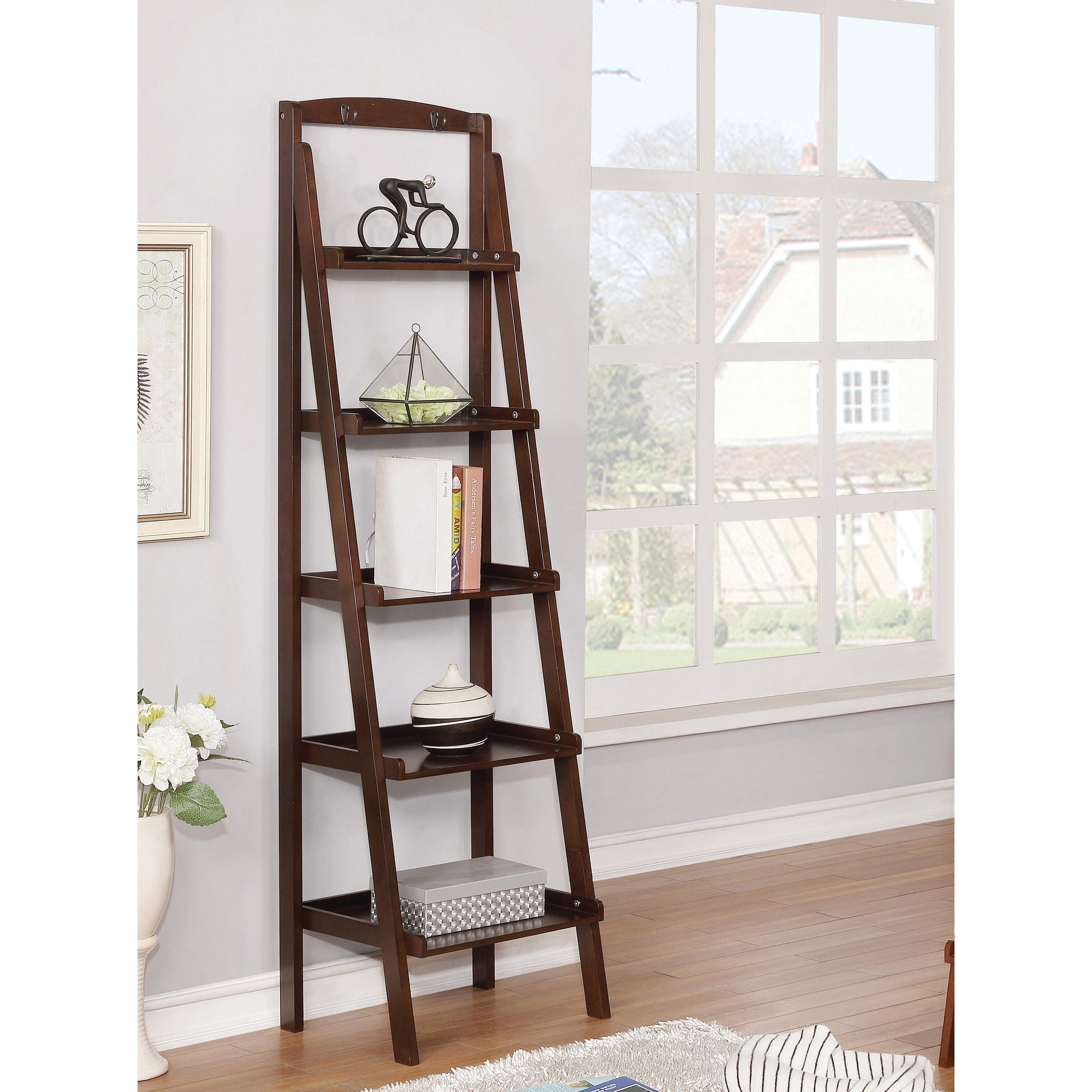 Copper Grove Sagarejo 5 Tier Ladder Bookshelf