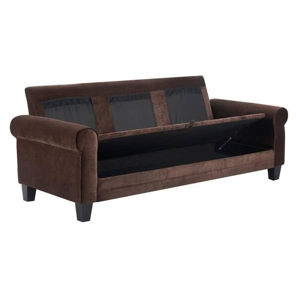 Fabulous Shop Serta Copenhagen 77 Round Arm Fabric Sofa With Storage Machost Co Dining Chair Design Ideas Machostcouk