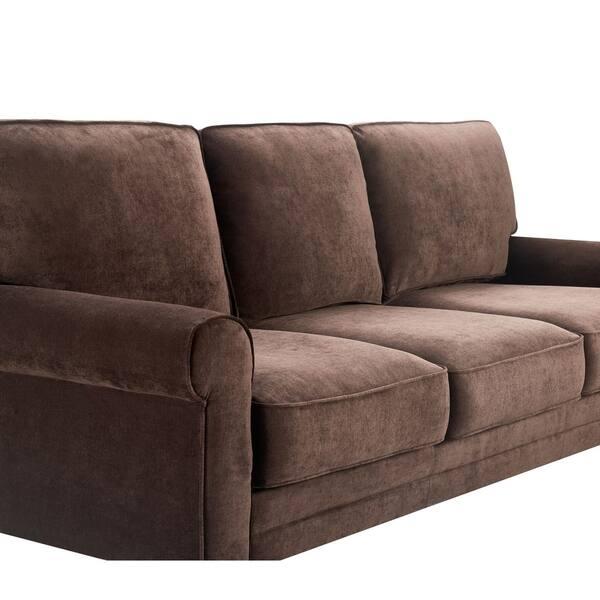 Magnificent Shop Serta Copenhagen 77 Round Arm Fabric Sofa With Storage Machost Co Dining Chair Design Ideas Machostcouk