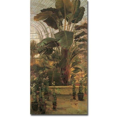 The Tropical House, Kew Gardens by Thomas Greenhalgh Gallery Wrapped Canvas Giclee Art