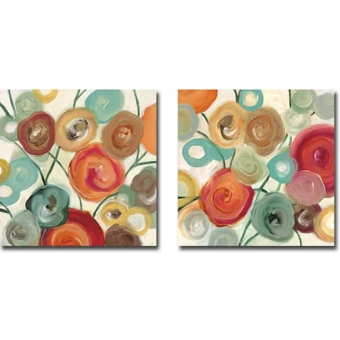 Blossom I & II by Cat Tesla 2-piece Gallery Wrapped Canvas Giclee Art Set