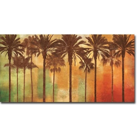 Palm Paradise by John Seba Gallery Wrapped Canvas Giclee Art